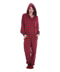 Retro Hooded Adult Onesie
