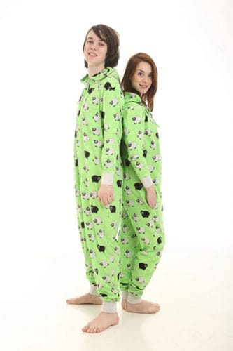 Cotton one piece pajama suits for adults
