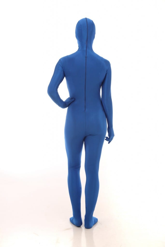 Spandex full body suit in Electric Blue