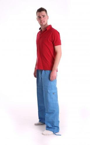 Funzee loungewear includes own design blue lounge pants made in Peru