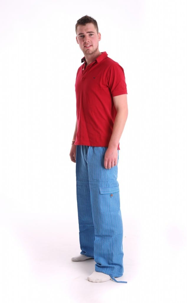 Funzee loungewear includes own design blue lounge pants made in Peru