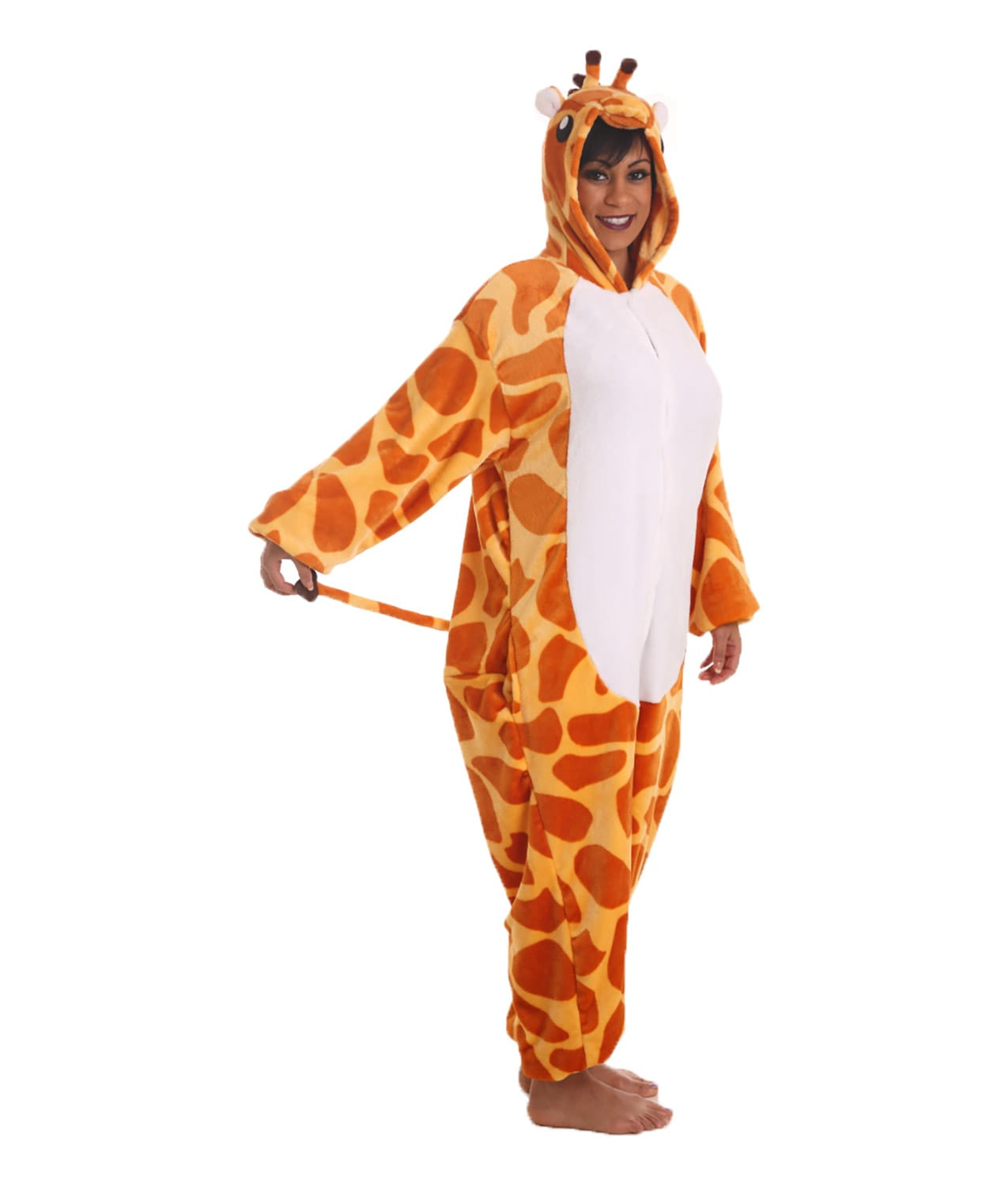 giraffe animal adult onesie stick your neck out funzee