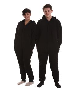Jet Black Adult Onesie