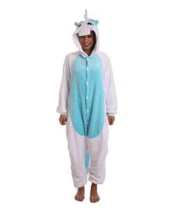 Blue Unicorn Animal Adult Onesie