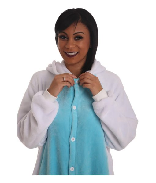 Blue Unicorn Animal Adult Onesie