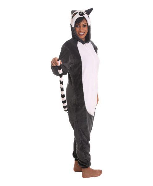 Lemur Animal Adult Onesie