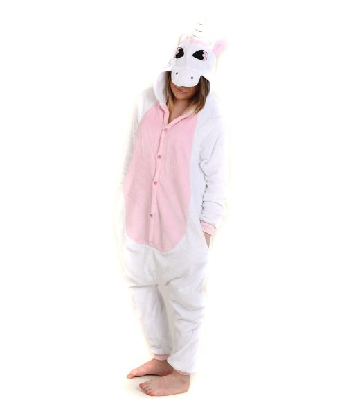Pink Unicorn Animal Adult Onesie