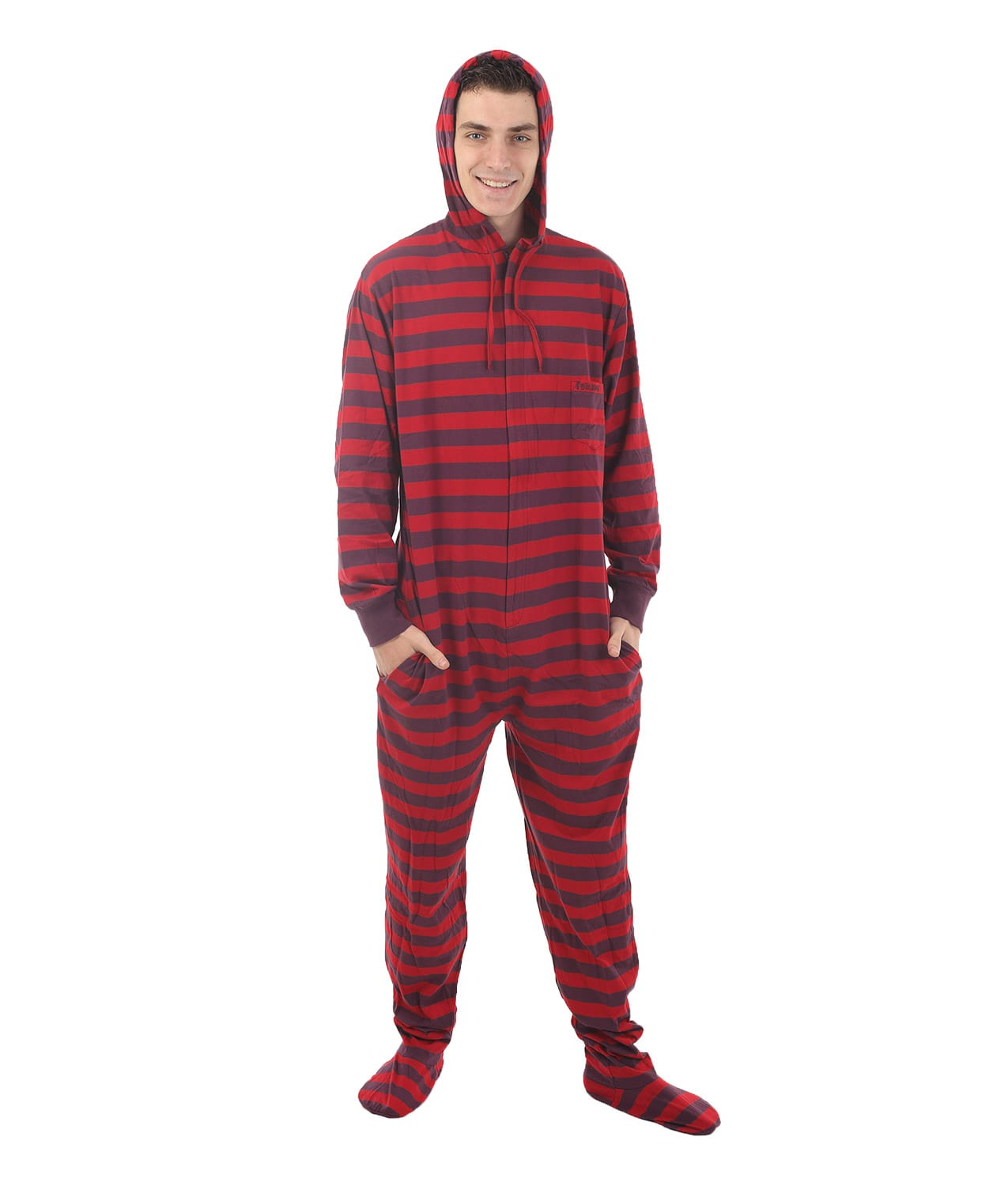 cb83a98ffa96 Retro Footed Pajama Suit - Stripy Fun