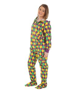 Harlequin Footed Pajama Suit
