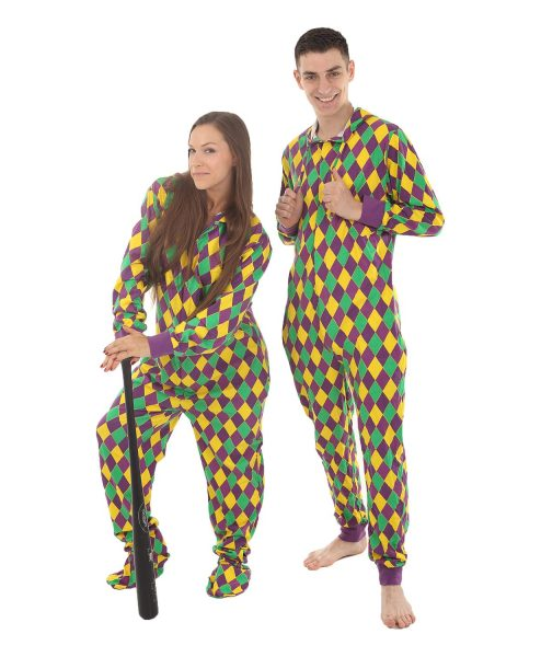 Harlequin Unfooted Adult Onesie