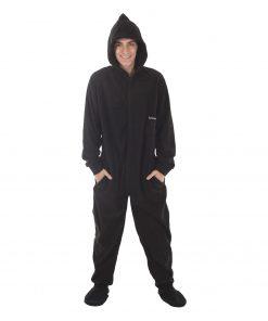 Jet Black Footed Pajama Suit