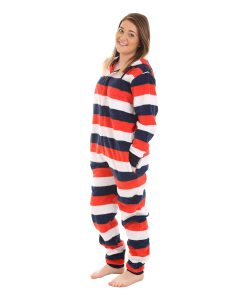 Red, White n Blue Hooded Adult Onesie