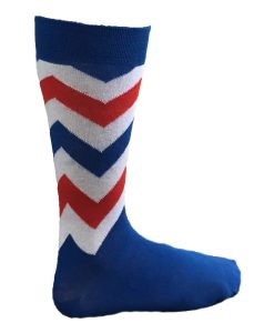 Red, White n Blue Stripy Socks