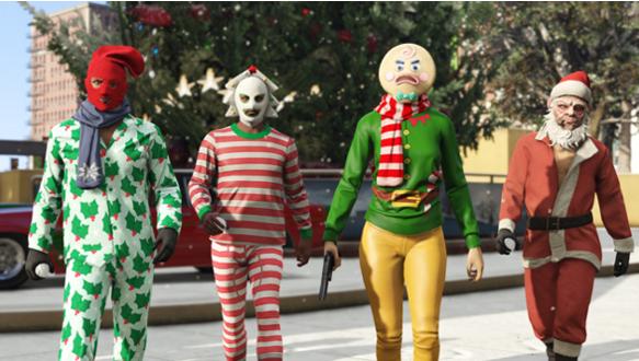 GTA festive onesie