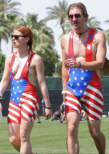 USA Flag cool sleepwear or naturally naked?