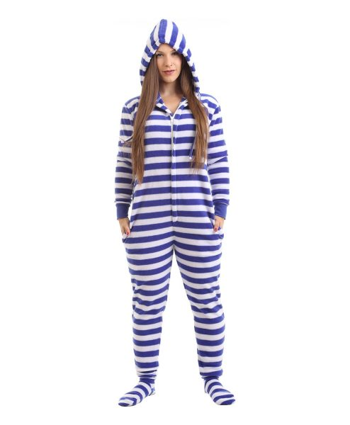 Nautical Footed Pajama Suit