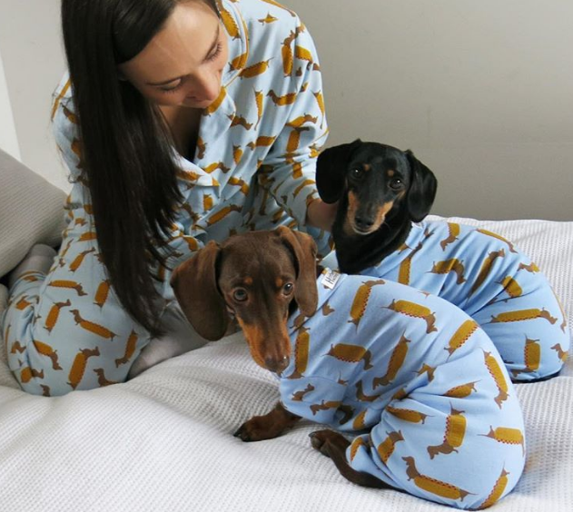 Pajama trends include Matching doggy pjs